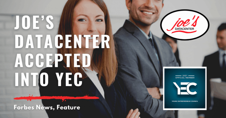 Joe's Datacenter Accepted Into YEC