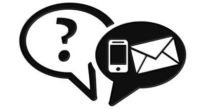 Communication icons phone and email