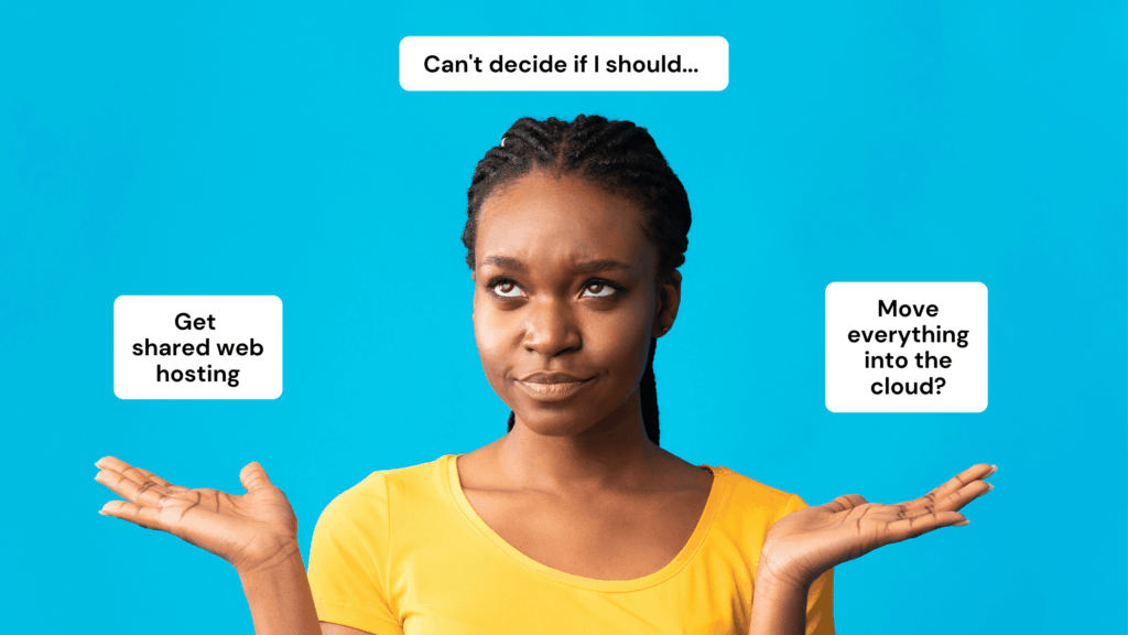 Making Decisions meme with thought bubbles
