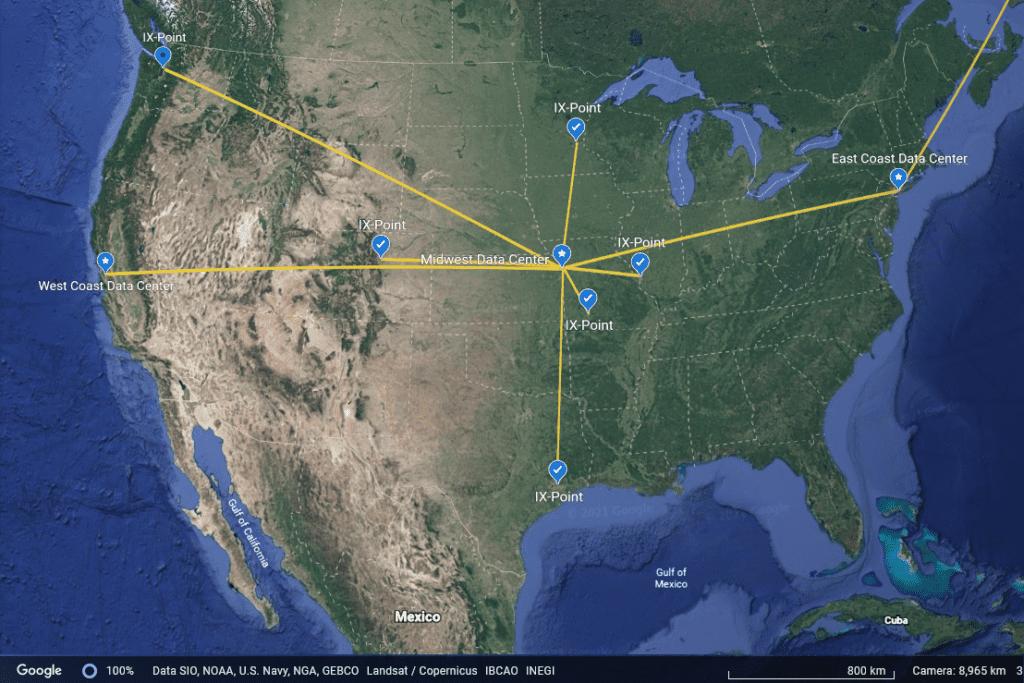 Google Earth Network Map